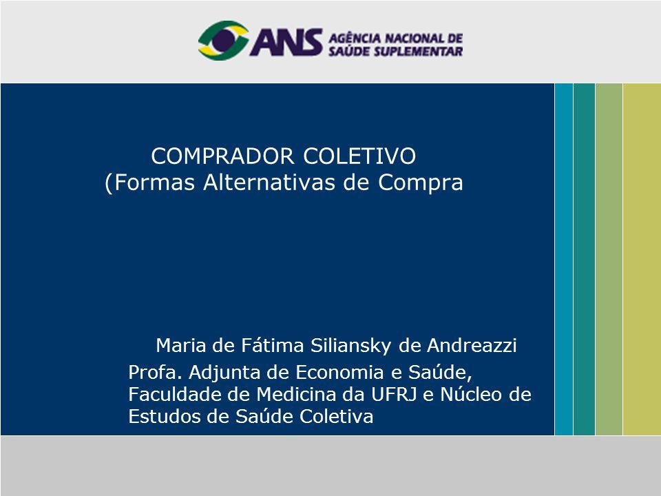 COMPRADOR COLETIVO (Formas Alternativas de Compra Maria de Fátima Siliansky de Andreazzi Profa.