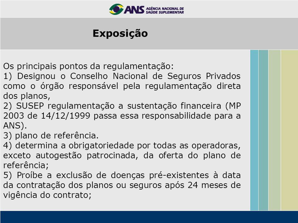 Os principais pontos da regulamentação: 1) Designou o Conselho Nacional de Seguros Privados como o órgão responsável pela regulamentação direta dos pl
