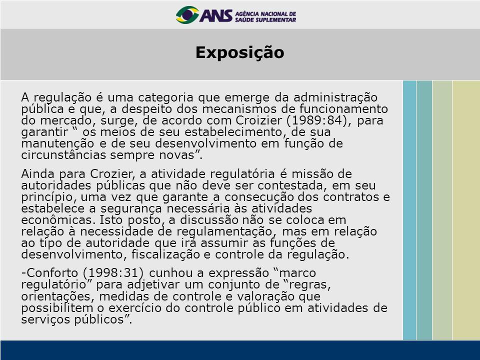 A regulação é uma categoria que emerge da administração pública e que, a despeito dos mecanismos de funcionamento do mercado, surge, de acordo com Cro