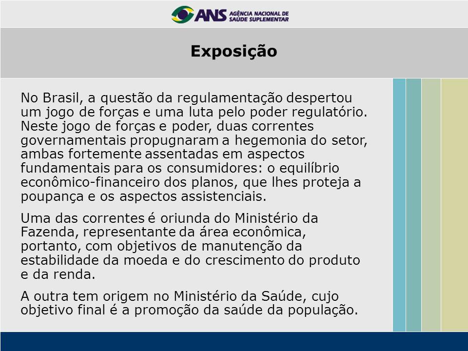 No Brasil, a questão da regulamentação despertou um jogo de forças e uma luta pelo poder regulatório. Neste jogo de forças e poder, duas correntes gov