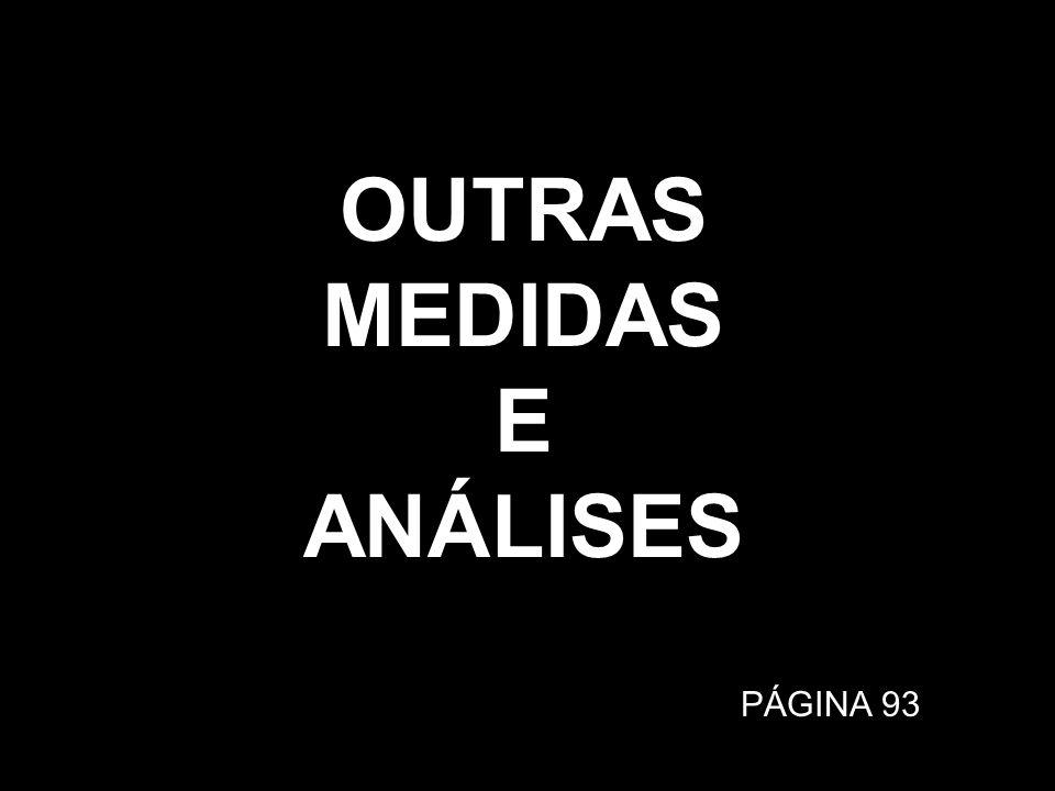 OUTRAS MEDIDAS E ANÁLISES PÁGINA 93