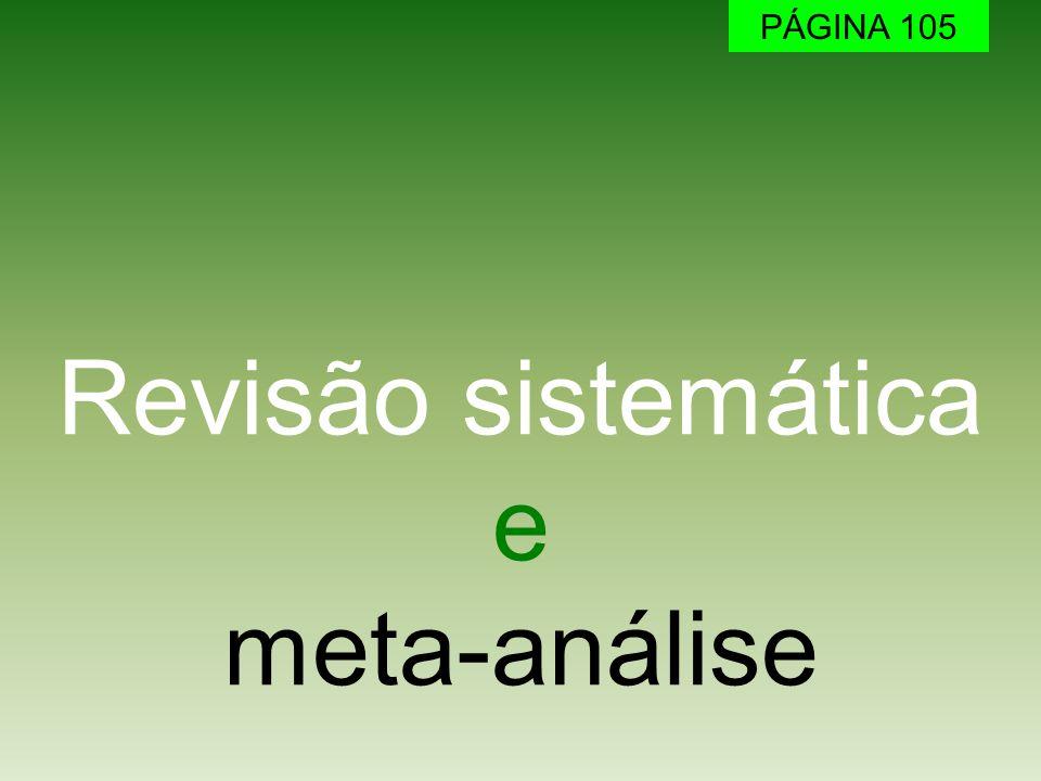 Revisão sistemática e meta-análise PÁGINA 105