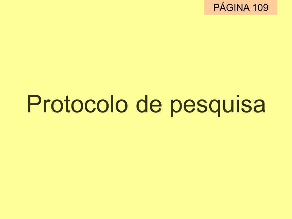Protocolo de pesquisa PÁGINA 109