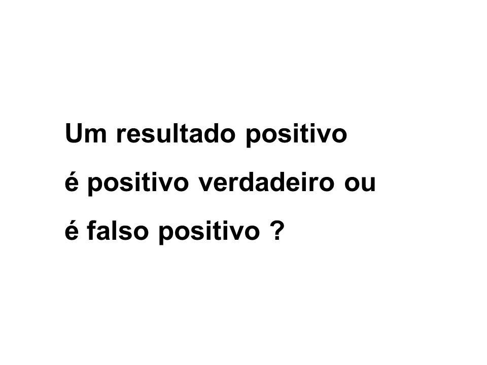 Um resultado positivo é positivo verdadeiro ou é falso positivo ?