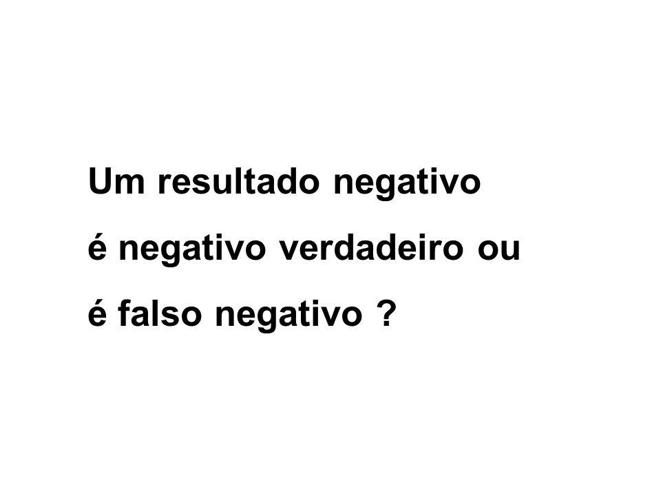 Um resultado negativo é negativo verdadeiro ou é falso negativo ?