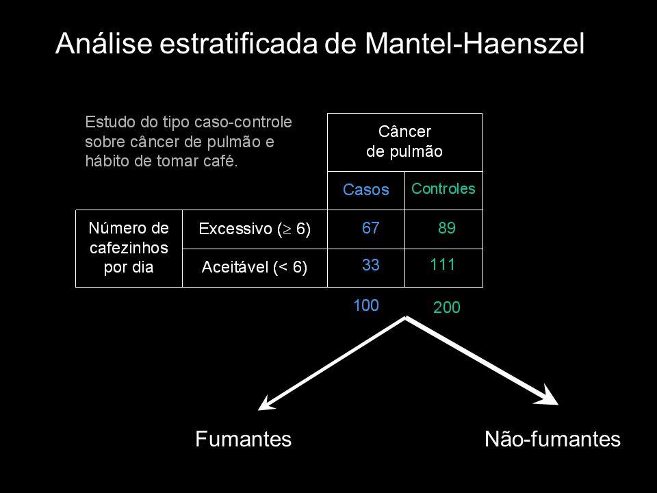 Análise estratificada de Mantel-Haenszel FumantesNão-fumantes