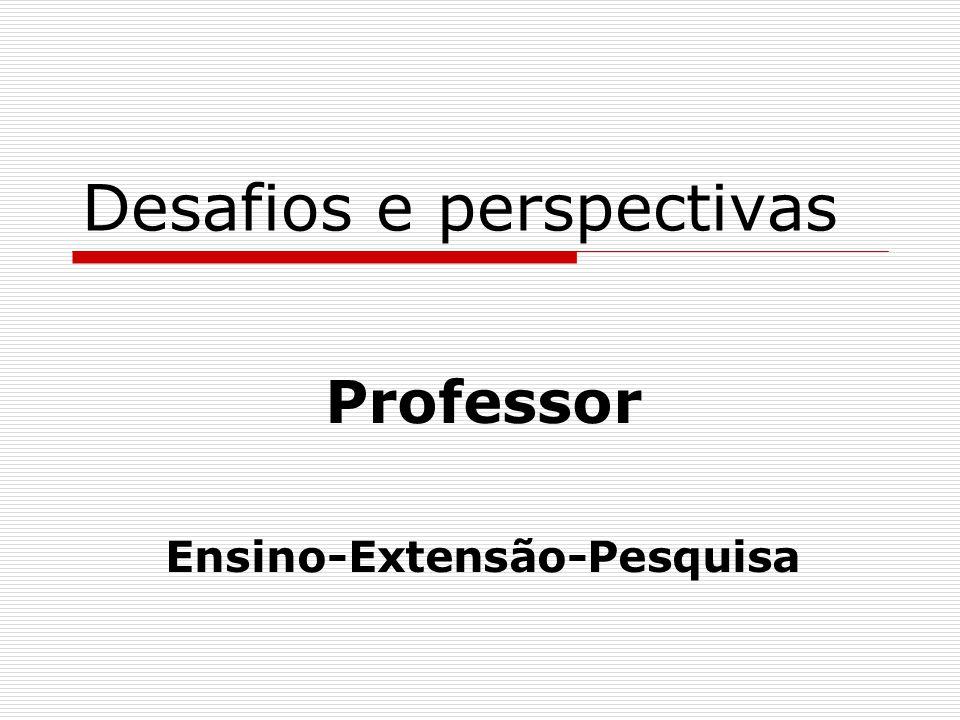 Desafios e perspectivas Professor Ensino-Extensão-Pesquisa