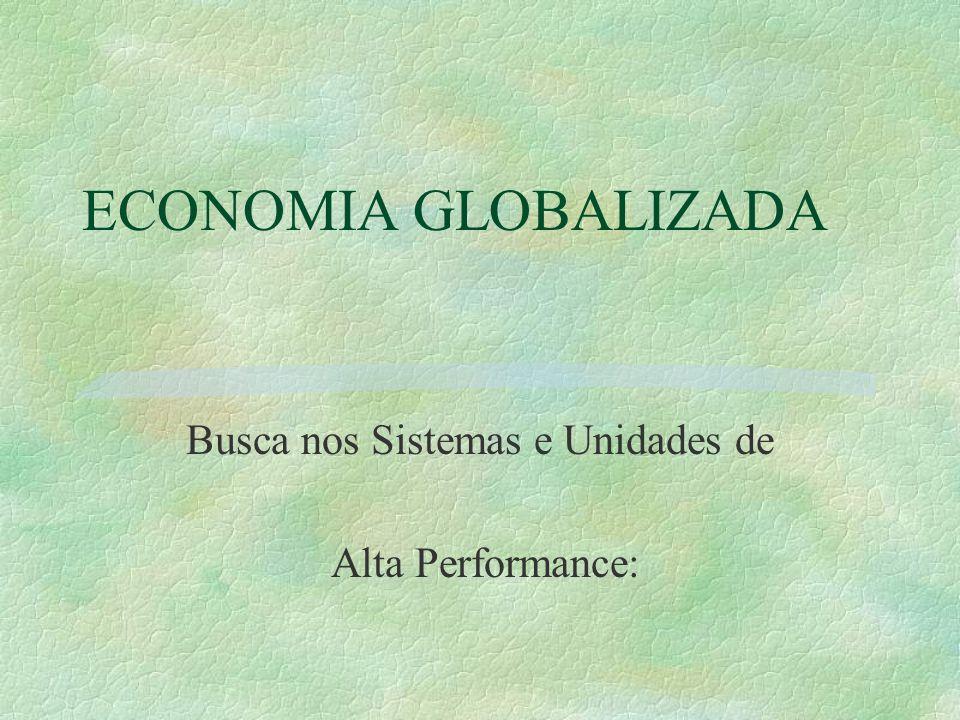 ECONOMIA GLOBALIZADA Busca nos Sistemas e Unidades de Alta Performance: