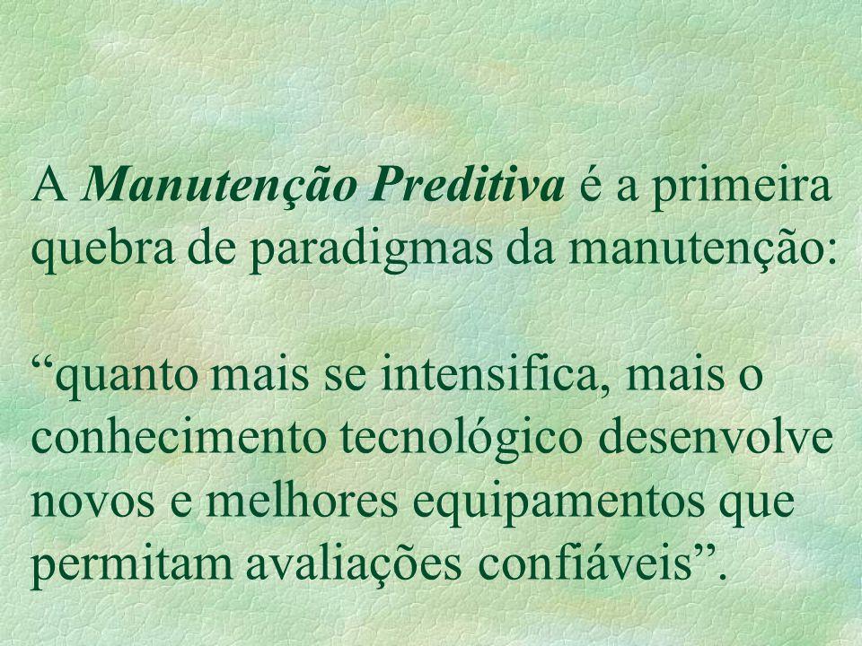 """A Manutenção Preditiva é a primeira quebra de paradigmas da manutenção: """"quanto mais se intensifica, mais o conhecimento tecnológico desenvolve novos"""