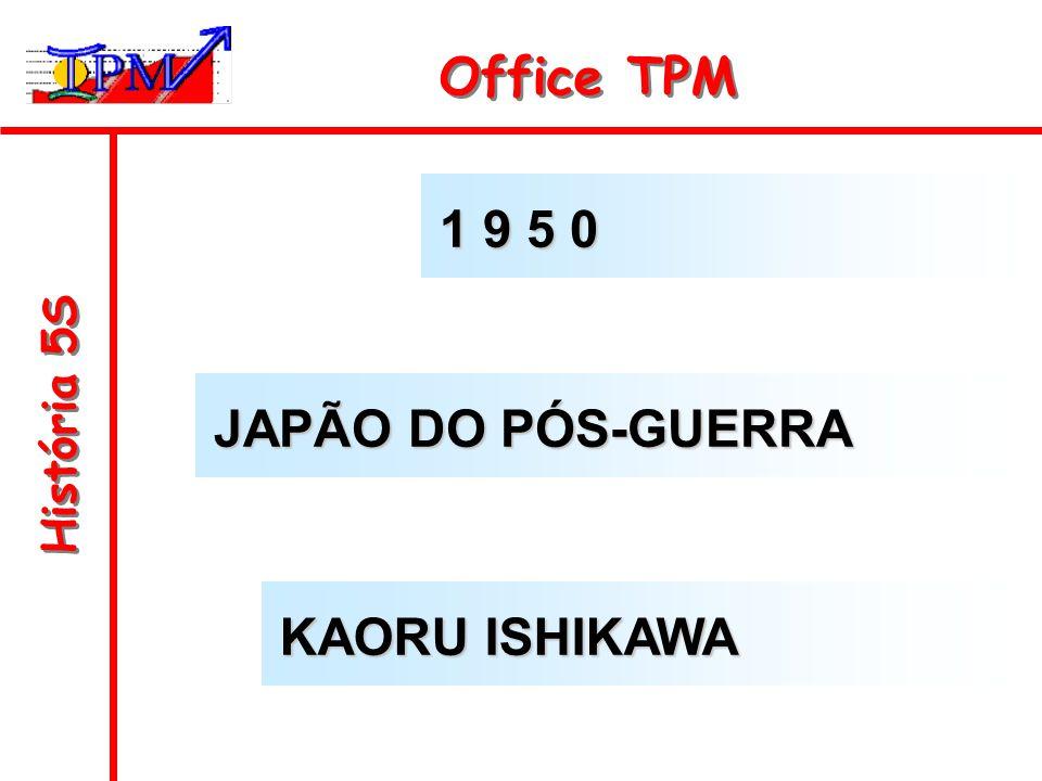 História 5S Office TPM 1 9 5 0 JAPÃO DO PÓS-GUERRA KAORU ISHIKAWA
