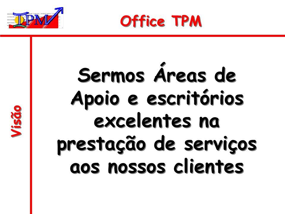 Visão Sermos Áreas de Apoio e escritórios excelentes na prestação de serviços aos nossos clientes Office TPM