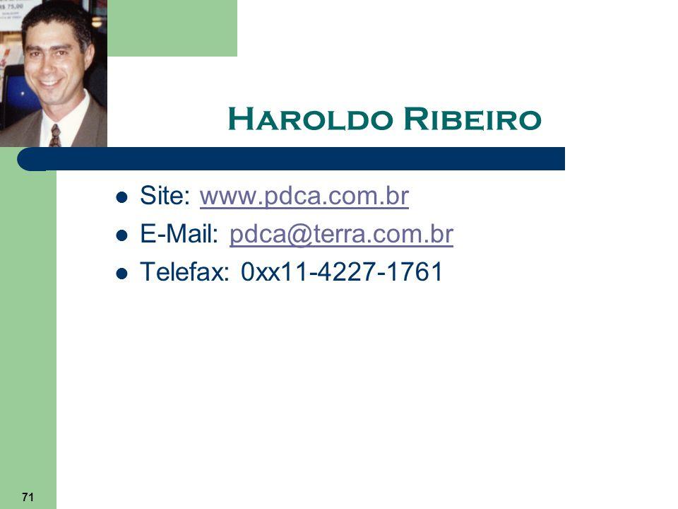 71 Haroldo Ribeiro Site: www.pdca.com.brwww.pdca.com.br E-Mail: pdca@terra.com.brpdca@terra.com.br Telefax: 0xx11-4227-1761