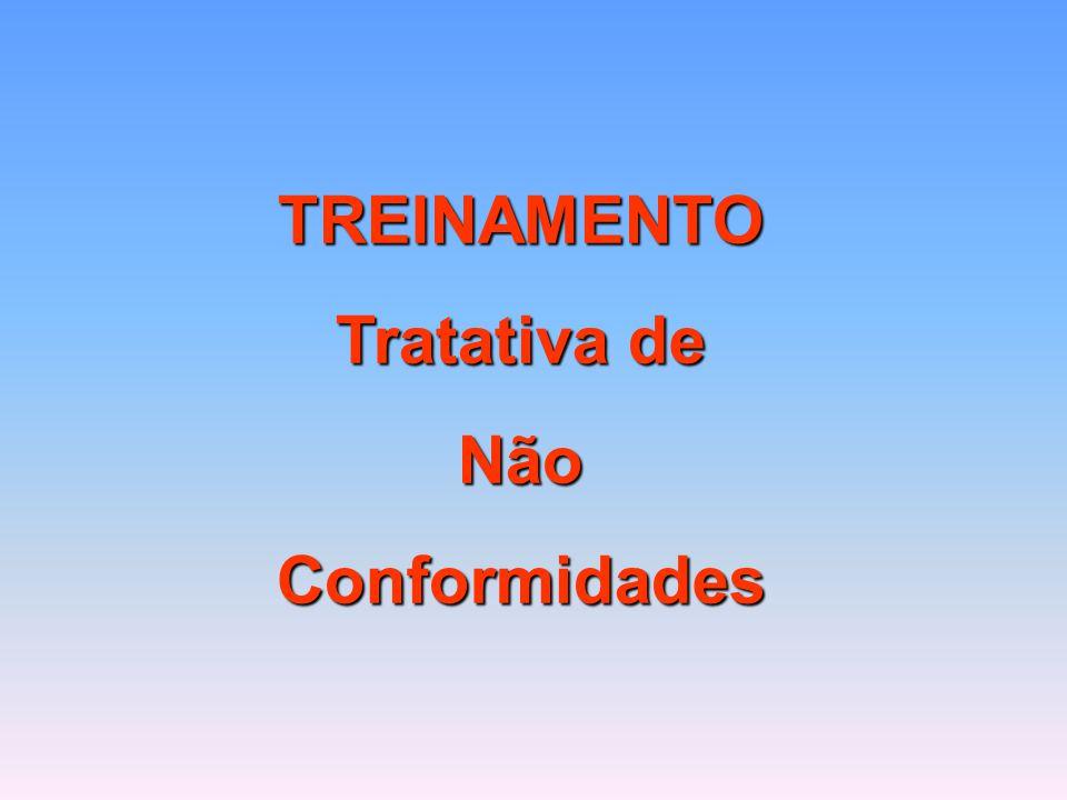TREINAMENTO Tratativa de NãoConformidades