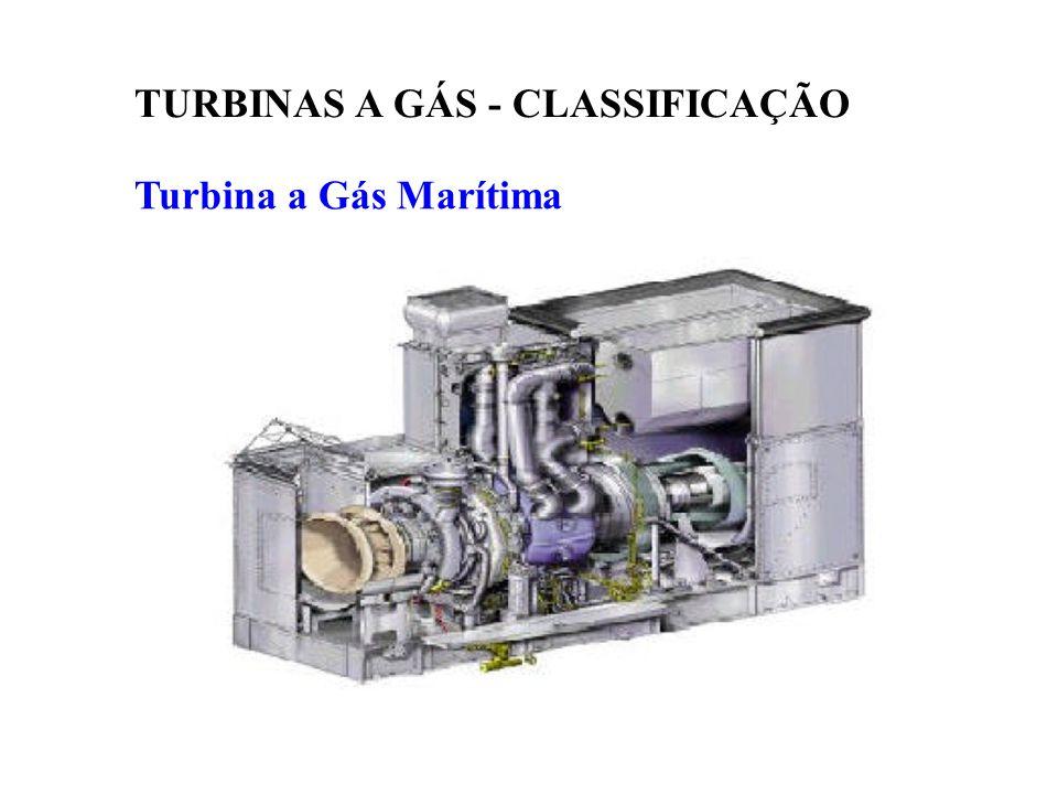 Turbina a Gás Marítima TURBINAS A GÁS - CLASSIFICAÇÃO