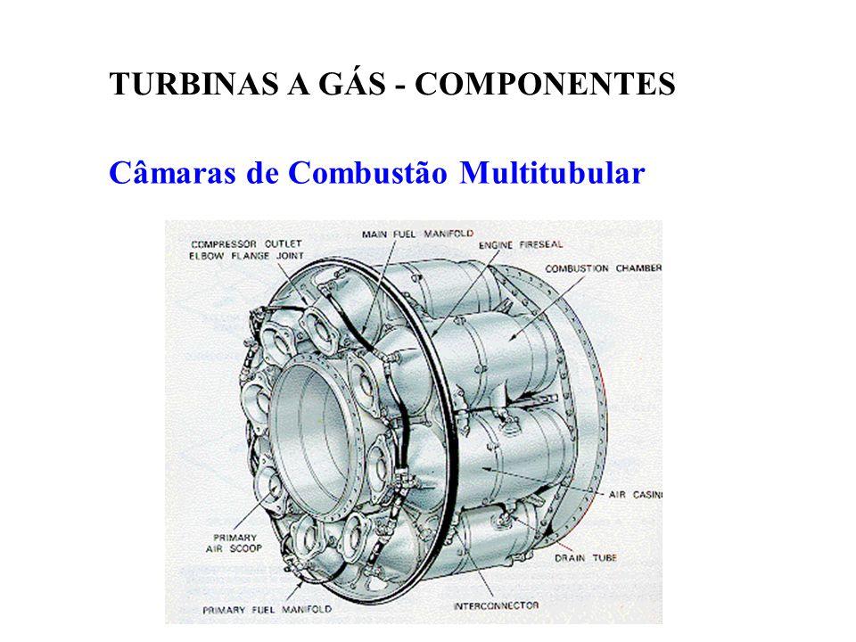 Câmaras de Combustão Multitubular TURBINAS A GÁS - COMPONENTES