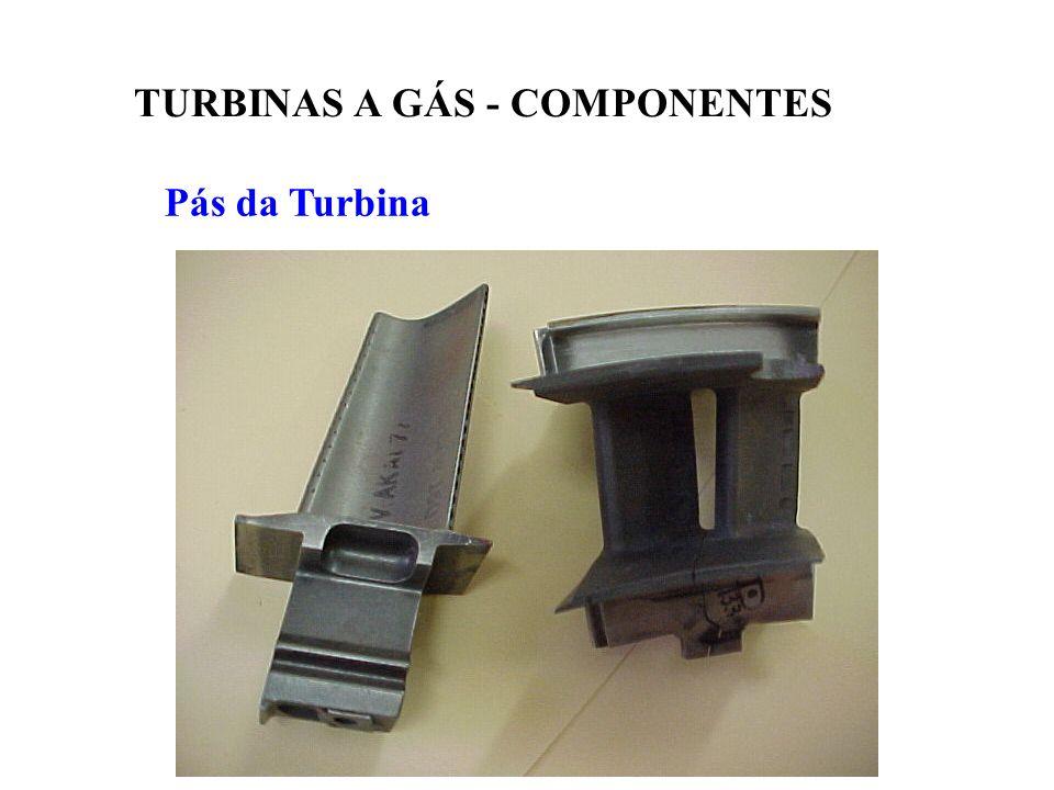 Pás da Turbina TURBINAS A GÁS - COMPONENTES