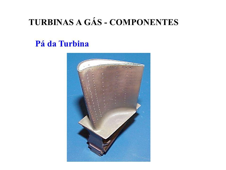 Pá da Turbina TURBINAS A GÁS - COMPONENTES