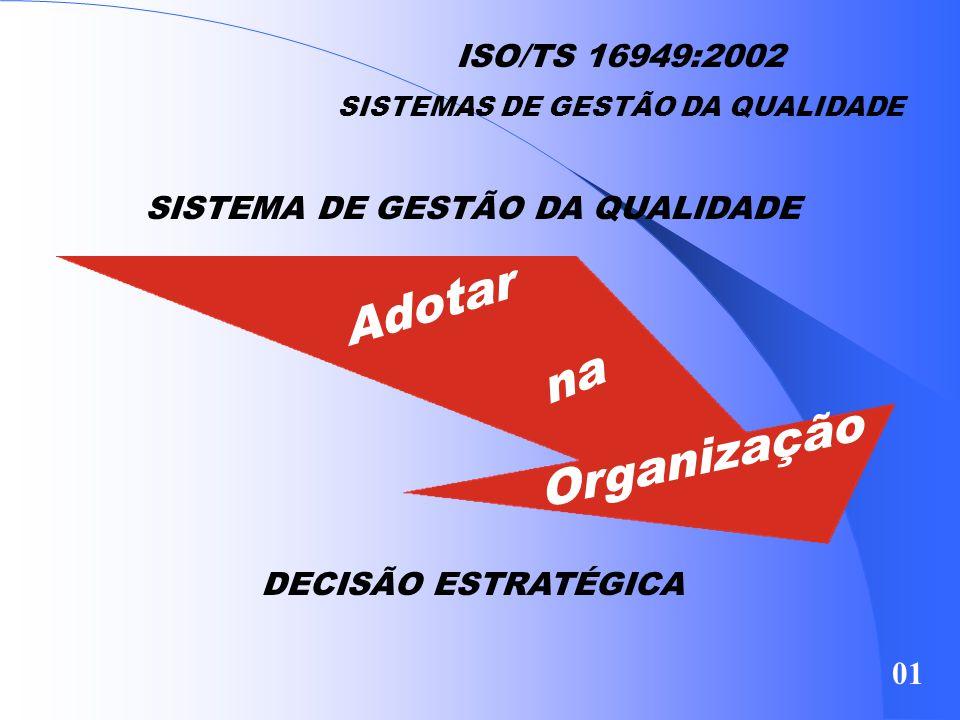 ISO9001:2000 - As Principais Diferenças Estrutura orientada para o processo e sequência mais lógica no conteúdo; Melhoria contínua como passo importan