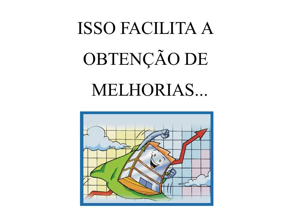 ISSO FACILITA A OBTENÇÃO DE MELHORIAS...