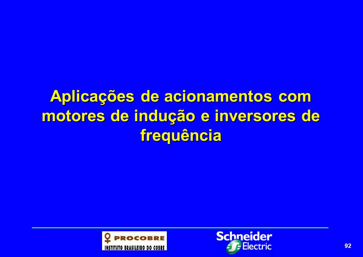 92 Aplicações de acionamentos com motores de indução e inversores de frequência