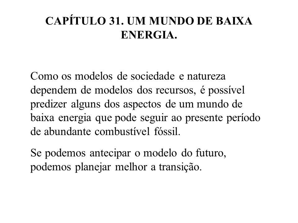 31.1 UM ORÇAMENTO DE ENERGIA PARA O ANO 2100.
