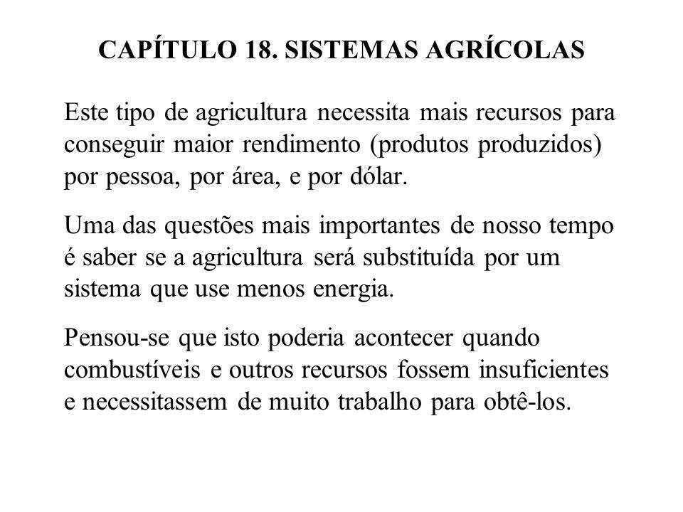 Figura 18.3 Diagrama da granja Taylor, um agro-ecossistema de relativa autosuficiência