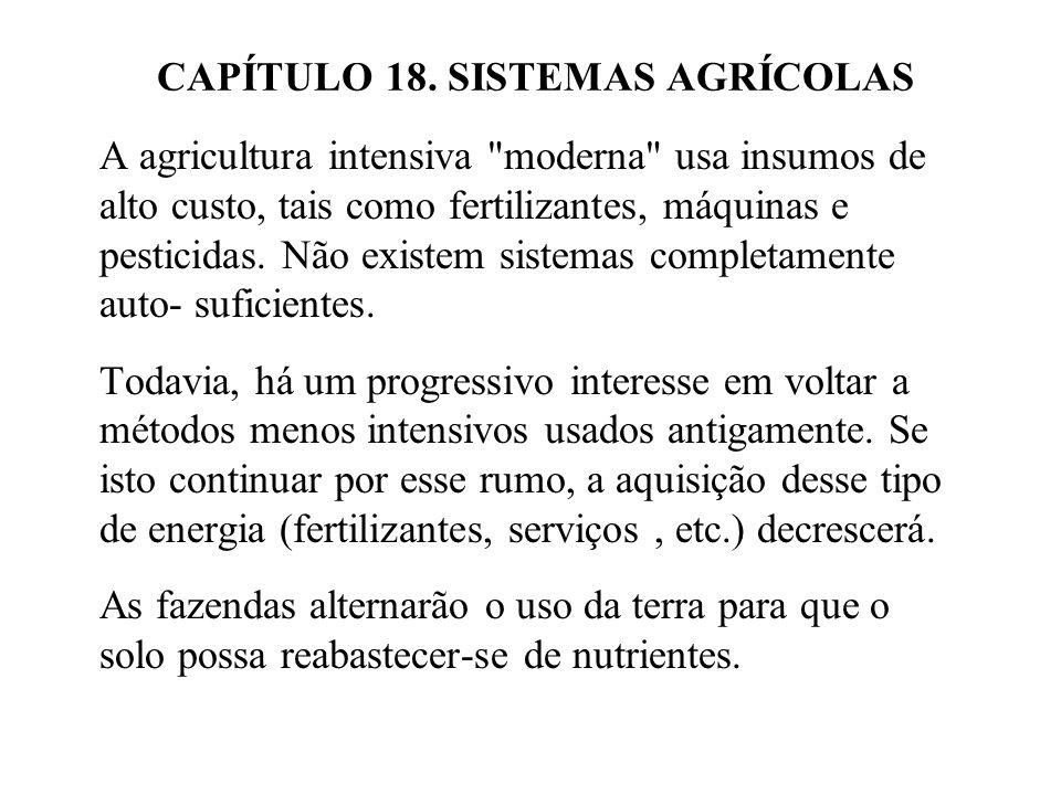 h.capacidade de sustentação i. rendimento j. investimento 2.