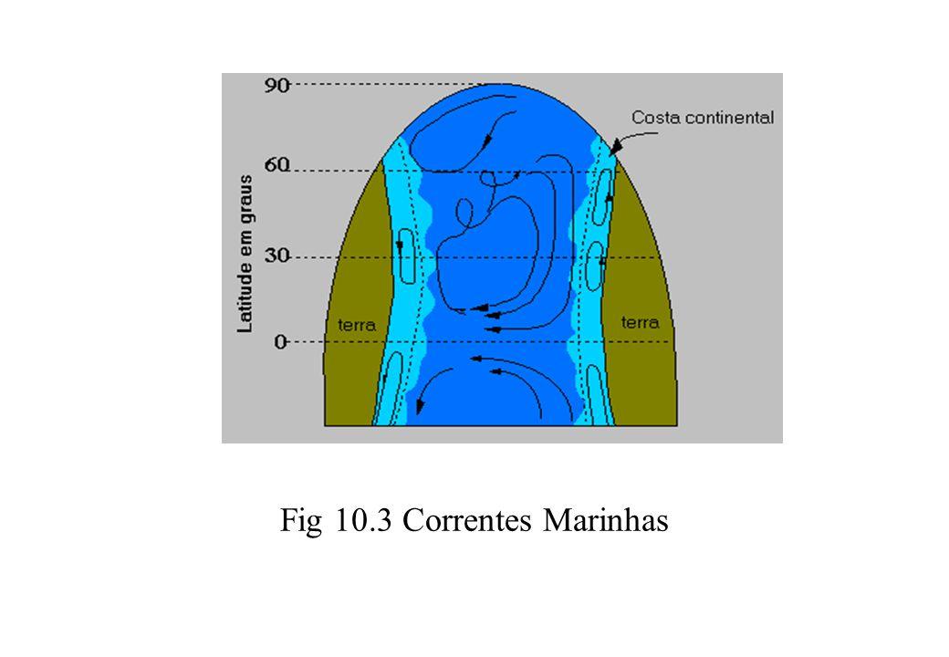 Fig 10.3 Correntes Marinhas