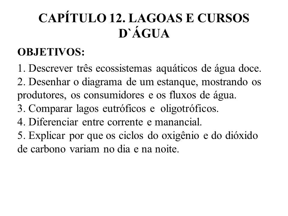 CAPÍTULO 12.LAGOAS E CURSOS D`ÁGUA OBJETIVOS: 1.