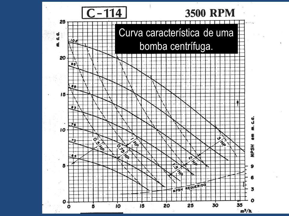 Curva característica de uma bomba centrífuga. 31