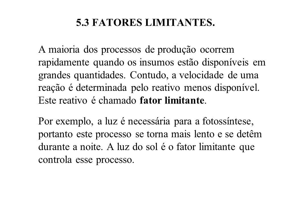 5.3 FATORES LIMITANTES Na Figura 5.3, pode ocorrer que ainda que se aumente o abastecimento de nutrientes, não aumente a produção.