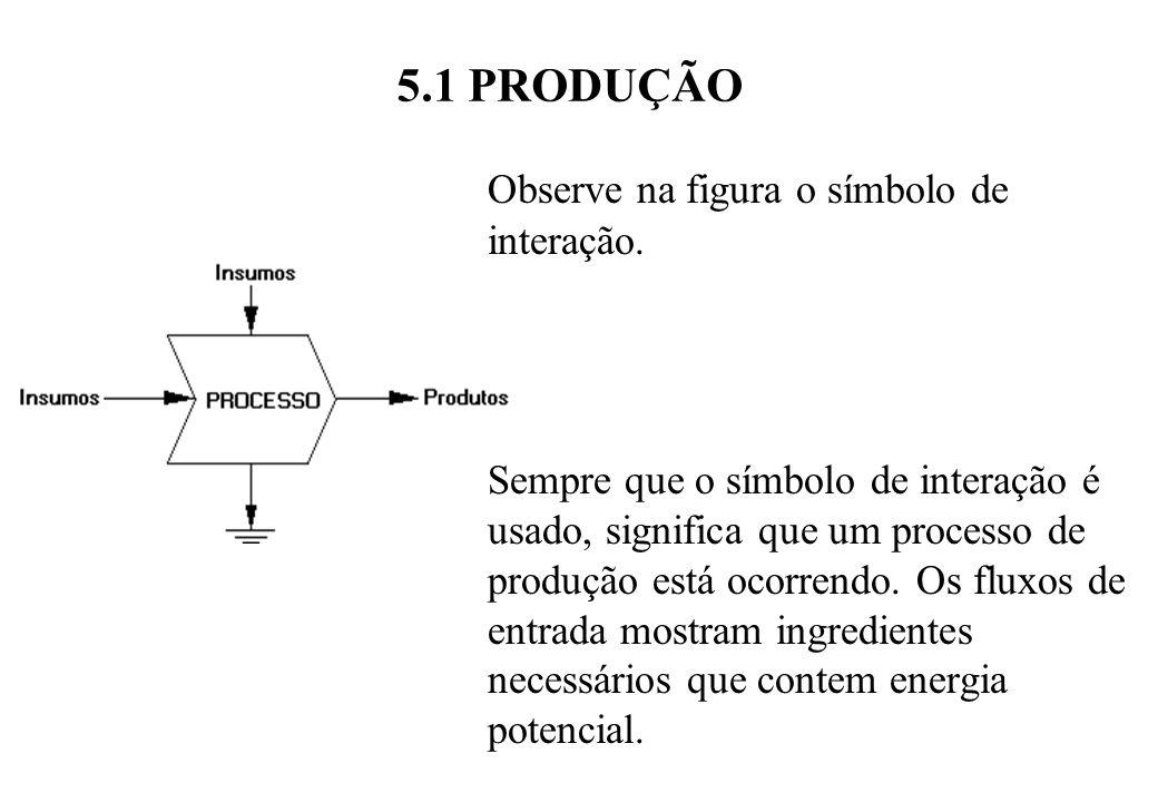 5.1 PRODUÇÃO Observe na figura o símbolo de interação.