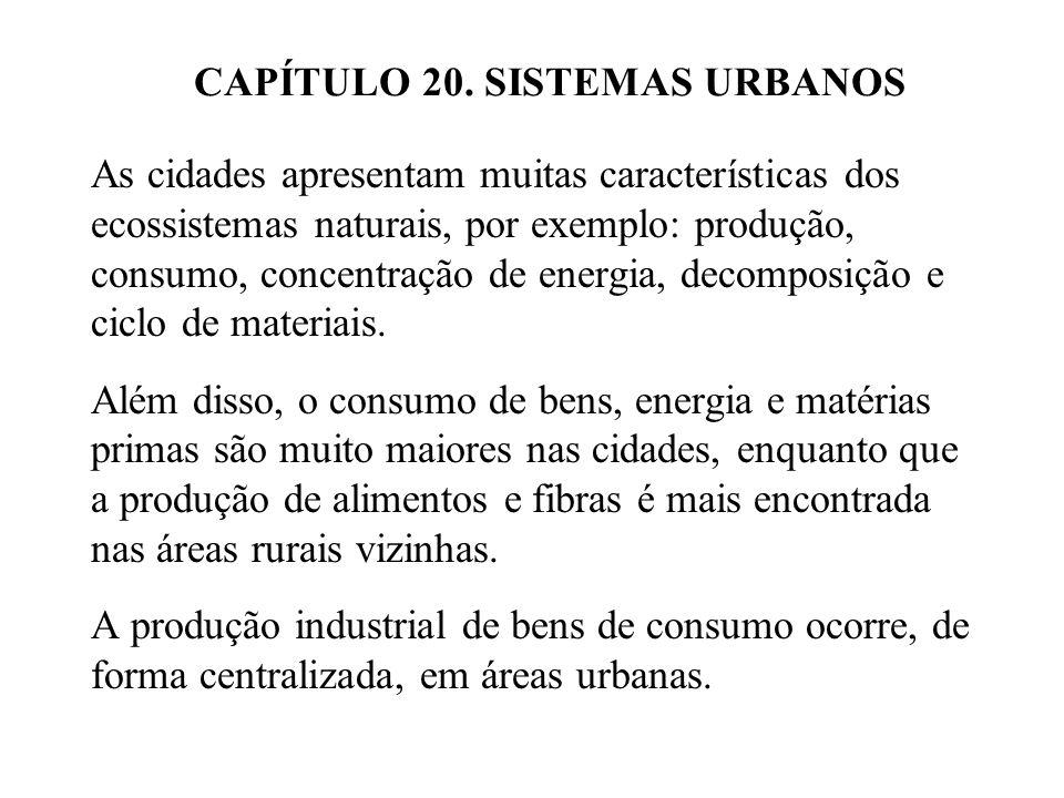 20.1 DESENVOLVIMENTO URBANO.O desenvolvimento de áreas urbanas é similar em todo o mundo.