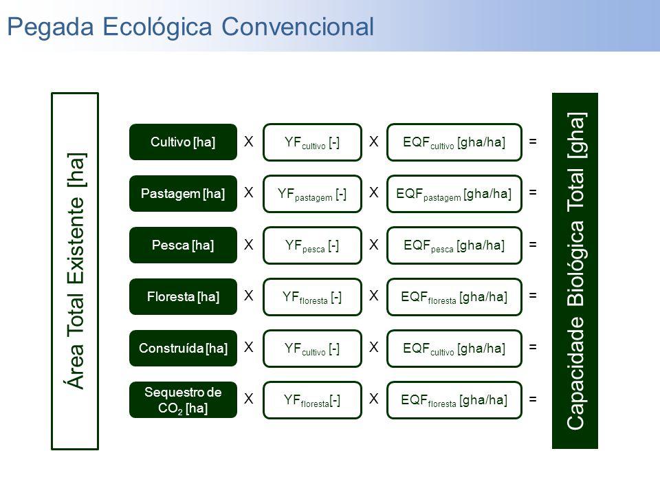 Área Total Existente [ha] Cultivo [ha] Pastagem [ha] Pesca [ha] Floresta [ha] Construída [ha] YF cultivo [-] YF pastagem [-] YF pesca [-] YF floresta