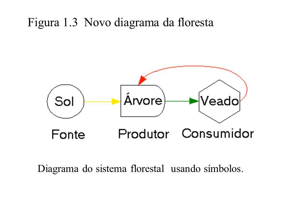 Figura 1.3 Novo diagrama da floresta Diagrama do sistema florestal usando símbolos.