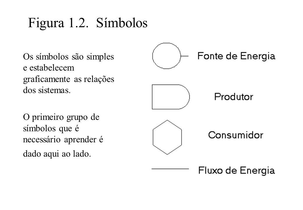 Figura 1.2. Símbolos Os símbolos são simples e estabelecem graficamente as relações dos sistemas. O primeiro grupo de símbolos que é necessário aprend