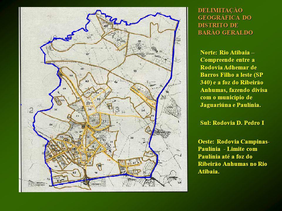 Norte: Rio Atibaia – Compreende entre a Rodovia Adhemar de Barros Filho a leste (SP 340) e a foz do Ribeirão Anhumas, fazendo divisa com o município d