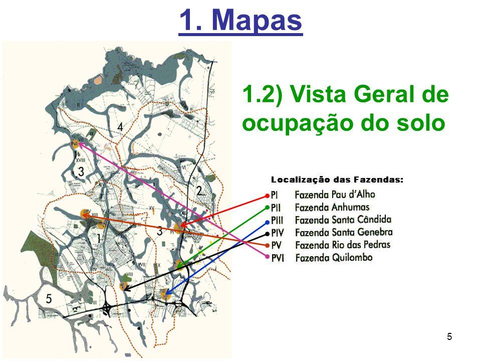5 1. Mapas 1.2) Vista Geral de ocupação do solo