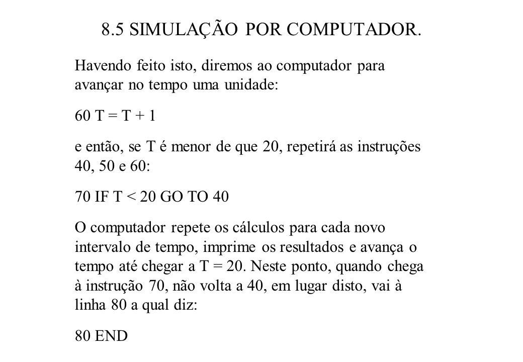 8.5 SIMULAÇÃO POR COMPUTADOR.