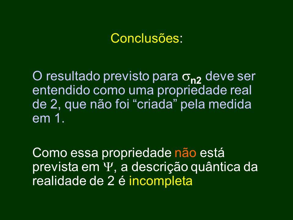 O resultado previsto para  n2 deve ser entendido como uma propriedade real de 2, que não foi criada pela medida em 1.