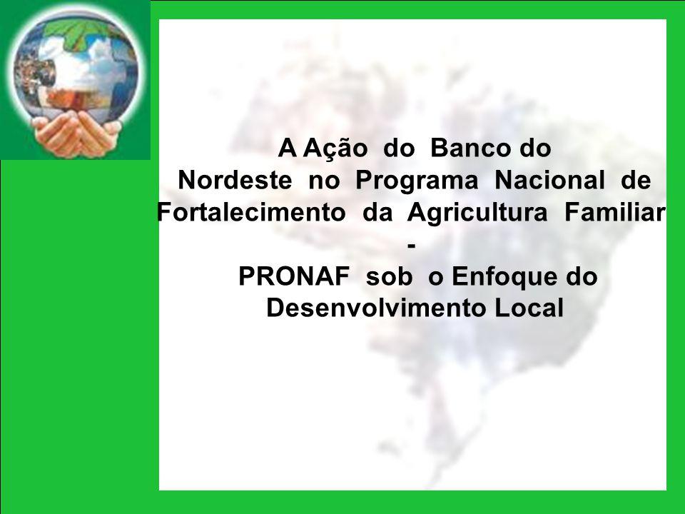 A Ação do Banco do Nordeste no Programa Nacional de Fortalecimento da Agricultura Familiar - PRONAF sob o Enfoque do Desenvolvimento Local