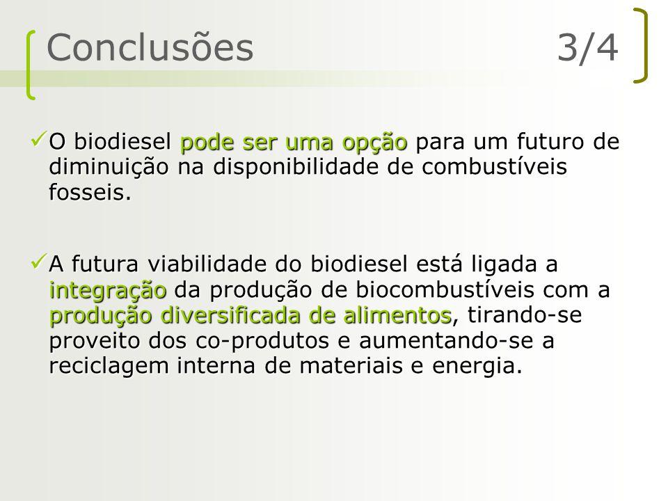 O biodiesel pode ser uma opção para um futuro de diminuição na disponibilidade de combustíveis fosseis. O biodiesel pode ser uma opção para um futuro