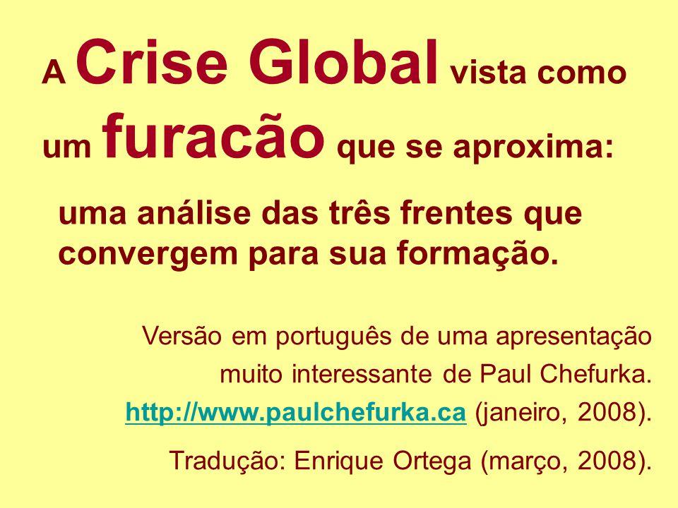 1 A Crise Global vista como um furacão que se aproxima: Versão em português de uma apresentação muito interessante de Paul Chefurka. http://www.paulch