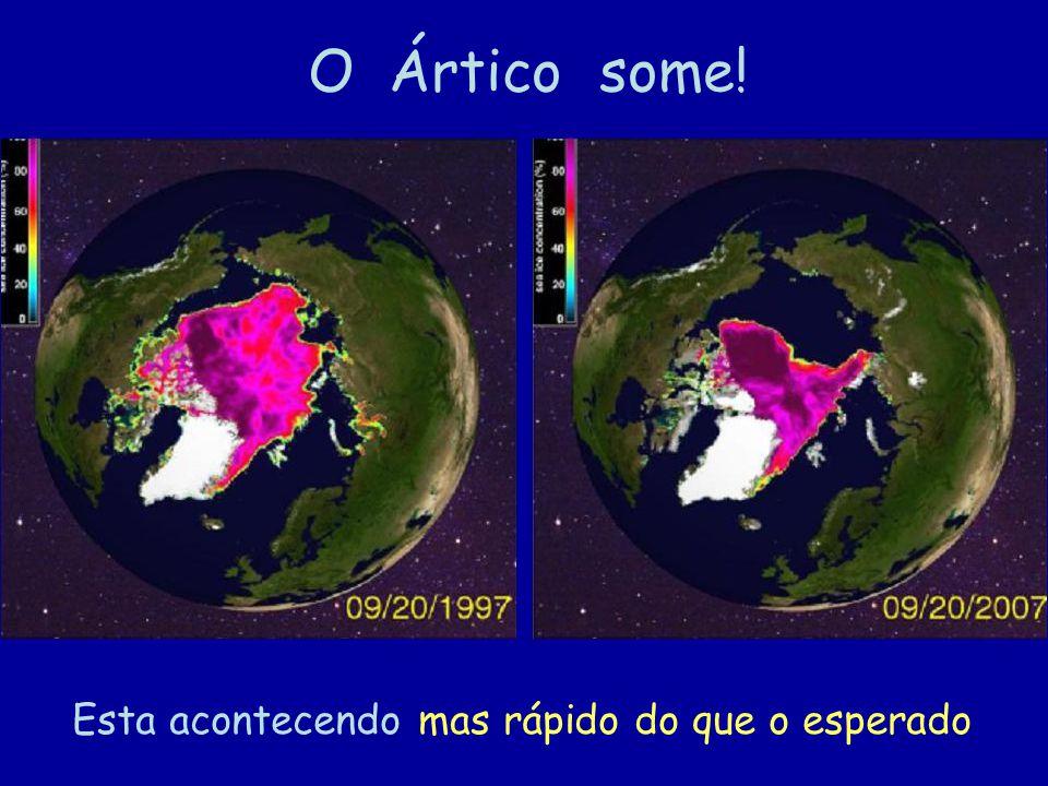 19 O Ártico some! Esta acontecendo mas rápido do que o esperado