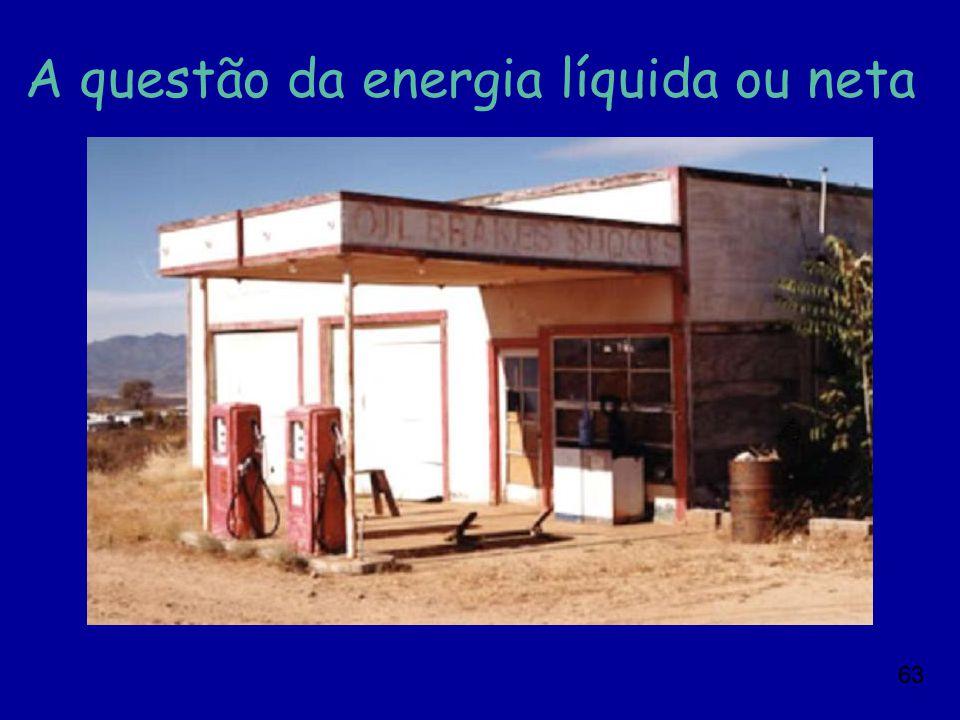 63 A questão da energia líquida ou neta