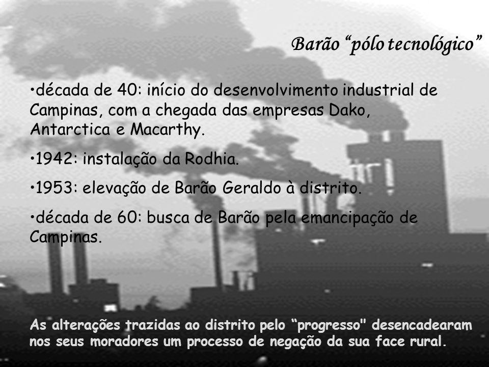 Um dos meios pelo qual os moradores acreditavam que haveria possibilidade de chegar a este objetivo seria pela instalação da Unicamp, que, depois de muitos anos de negociação, foi instalada, em um terreno doado pelo Barão Geraldo de Rezende em 1966 (RIBEIRO, 2000).