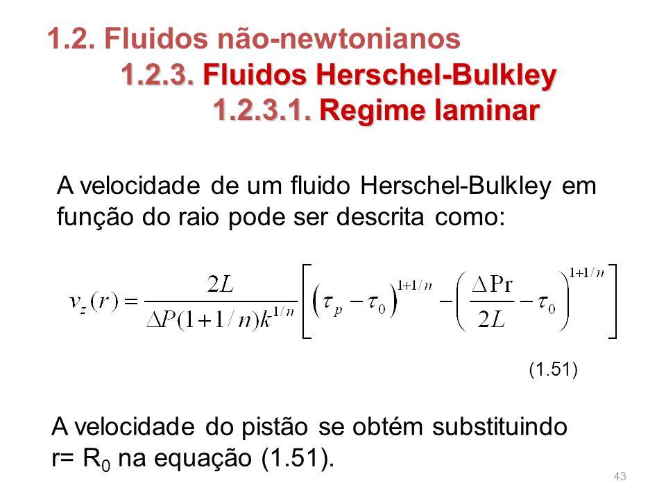 1.2.3.Fluidos Herschel-Bulkley 1.2. Fluidos não-newtonianos 1.2.3.