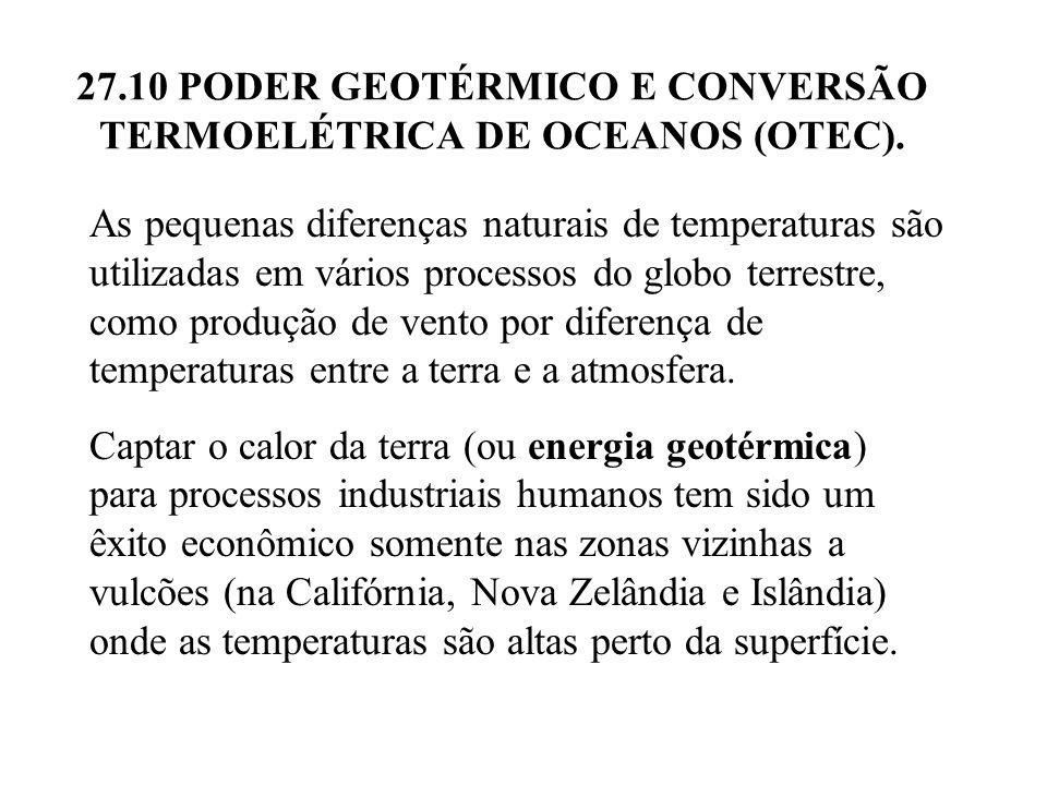 27.10 PODER GEOTÉRMICO E CONVERSÃO TERMOELÉTRICA DE OCEANOS (OTEC).