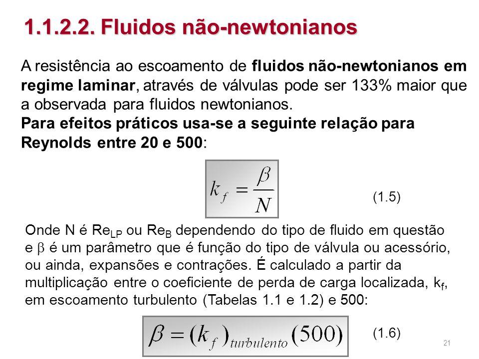 A resistência ao escoamento de fluidos não-newtonianos em regime laminar, através de válvulas pode ser 133% maior que a observada para fluidos newtoni