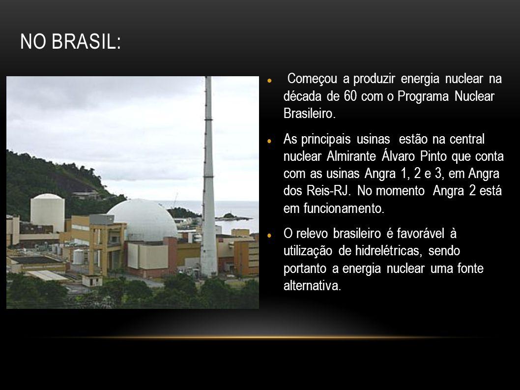 Começou a produzir energia nuclear na década de 60 com o Programa Nuclear Brasileiro. As principais usinas estão na central nuclear Almirante Álvaro P
